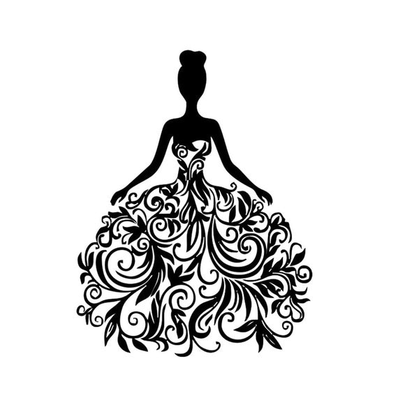 Flower Girl Silhouette Vector File in SVG EPS by FinestCutArt