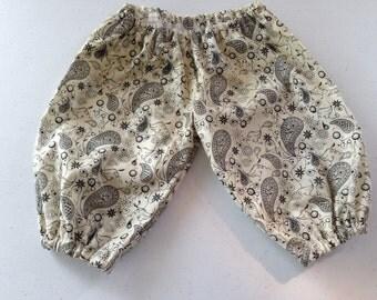 Infant paisley harem style pants