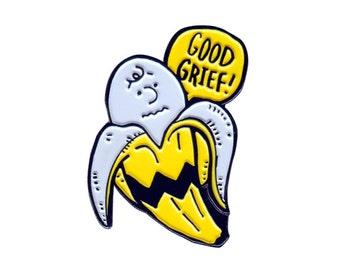 Good Grief! soft enamel pin