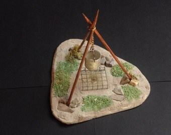 Incense burner. Field kitchens.