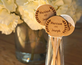 Wooden Stirrers with Names (set of 50)