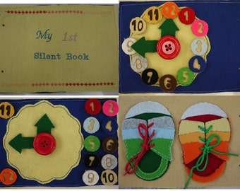 My 1st Silent Book, Children's Quiet Book, Busy Book, Activity Book, Felt Quiet Book for Children, Kids, 22 pages, size 15 x 21 (cm)