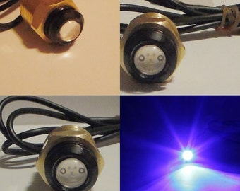 "LED BOAT PLUG Light [Blue, White, Green] Garboard Brass Drain  1/2"" npt marine underwater fish"