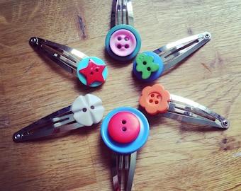 Button Hairclip