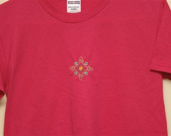 hearts embroidered shirt