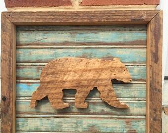 Reclaimed Wood Bear in Beadboard
