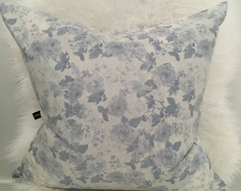 Light blue floral pillow