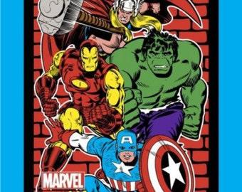 "Marvel Fabric - Marvel Comics Fabric - Marvel Retro 60508 Comics Panel 100% cotton fabric 44"" x 35"", G195"