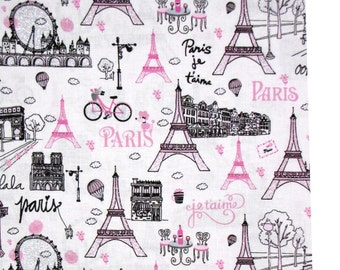 Timeless Treasures Eiffel Tower City Scenes CM3577 100% cotton fabric by the yard, g93