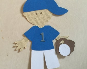 Baseball player paper craft