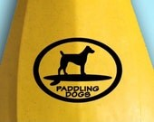 JRT Jack Russell Terrier Dog Vinyl SUP Kayak Canoe Car Sticker Decal Original Design by Paddling Dogs