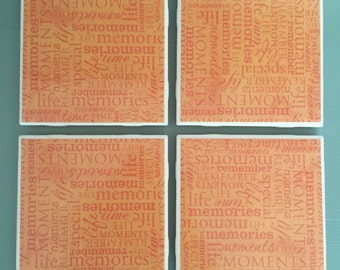 Ceramic Coasters: Set of 4