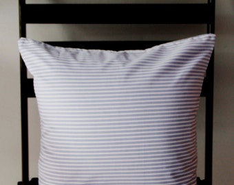 Blue Pillow Covers, Blue Throw Pillows, Blue & White, Striped Pillow Covers