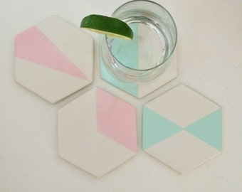 Geometric Coasters | Hostess Gift | Gift for Her