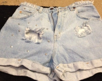 Slightly Bleached High Waisted Shorts