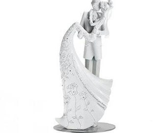 """Language of Love """"The Kiss"""" Cake Topper, 9-Inch Wedding Cake Topper"""