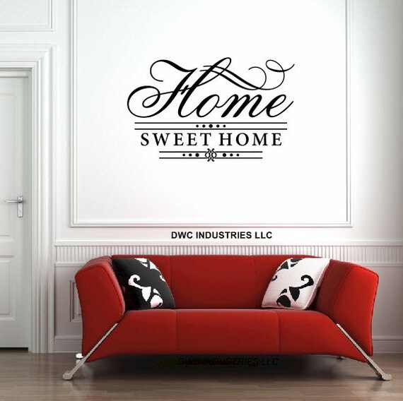 Home sweet home vinyl wall art vinyl sticker wall decal Home sweet home wall decor