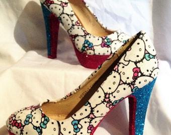 Hello Kitty inspired heels * *  uk sizes 3-8 * *
