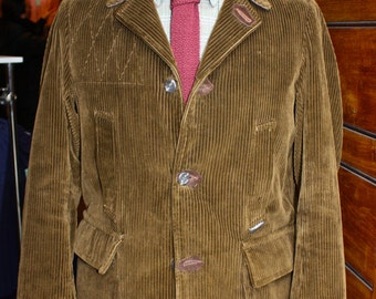 1950's Brown Corduroy Italian Hunting Jacket