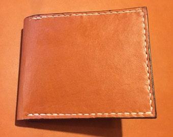 Handmade Full Grain Leather Wallet (6 slots + 2 inside Slots)