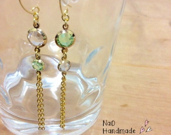 Shine Glass & tassel earrings