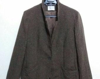 Vintage Pendelton Jacket /Blazer /brown /Medium /made in usa/virgin wool