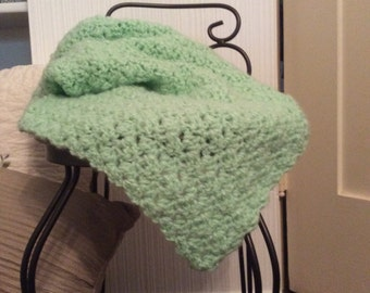 Baby soft mint green throw