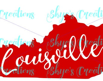 Louisville Cardinals svg ky state outline, UofL