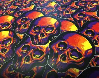 Vinyl Skull Stickers (x2)