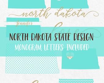 North Dakota State Svg Font Monogram Font Cricut svg Silhouette svg designs state outline png dxf jpg svg cutting files mermaid pattern