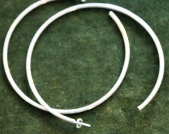 Vintage Large Silver Hoop Earrings