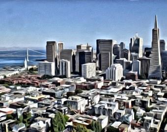 San Francisco Skyline - Print or Canvas
