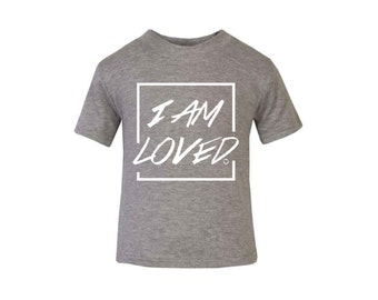 Grey 'I Am Loved' T-shirt / Baby Grow