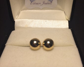 Gold Colored Stud Earrings
