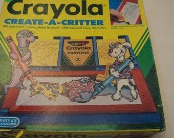 Crayola Create-a-critter plates! :) fun vintage!
