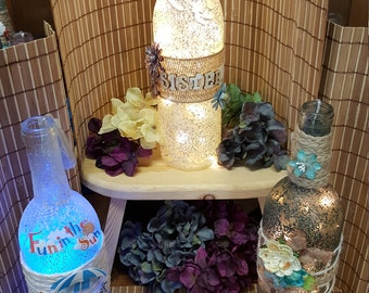 I create and design lighted wine  bottles