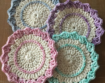 Crochet Drink Coasters (Pack of 4)