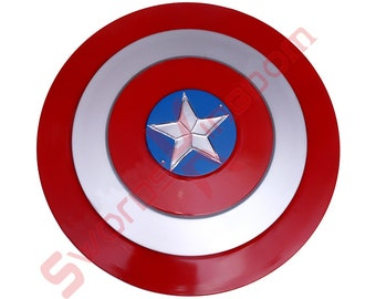 Red Captain America Shield