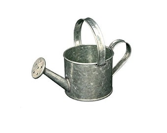Tin watering can, creative hobbies, decoupage, small size cm 16x8x12