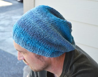 Ombre Striped Knitted Hat - Adult M/L