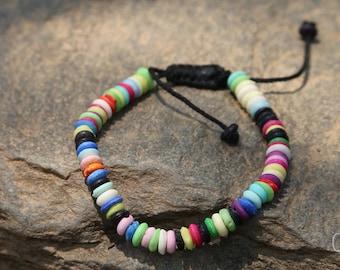 Multicolored Tibetan Bracelet - Nepal 008