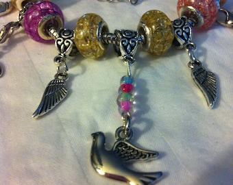 """Colorful Dove charm bracelet 7 1/2"""""""
