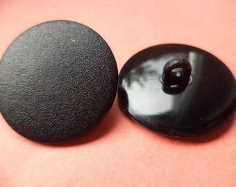 10 buttons black 23mm (1290) button