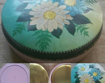 Pretty Little Vintage Tin storage container