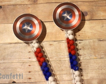 Captain America Candy Wands-Set of 12
