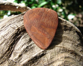 Wooden Guitar Pick, Hand-Crafted, Exotic Leopardwood