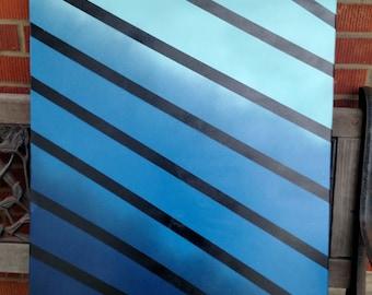 Blue Gradient Painting