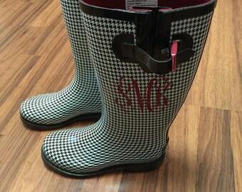 Rainboot Monograms / Rain Boot Monograms / Monogrammed Rainboots / Monogrammed Rain Boots / Rain Boot Decals / Personalized Rain Boots