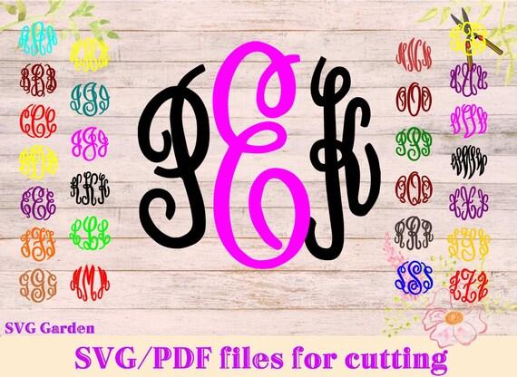 master circle monogram svg font files for cricut  silhouette  monogram svg letters  vector