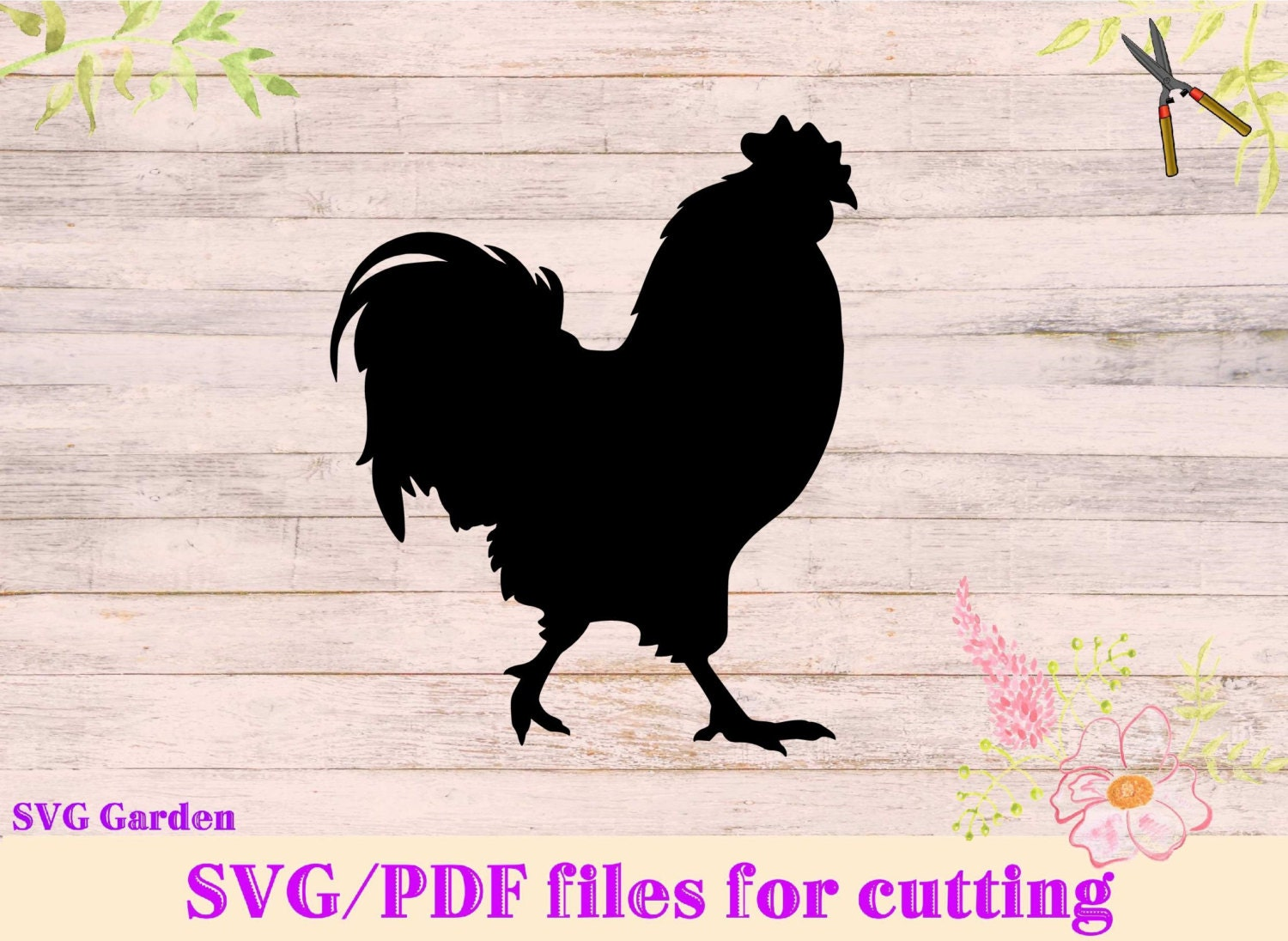 Rooster Svg File Chicken Svg For Cutting Machines Cricut